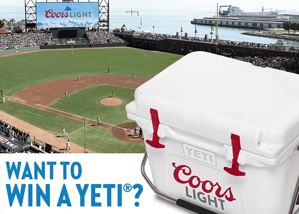 Coors Light Tailgate Sweepstakes 2020