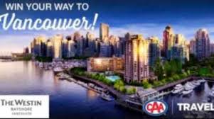 CAA North & East Ontario Win Your Way To Vancouver Contest 2020
