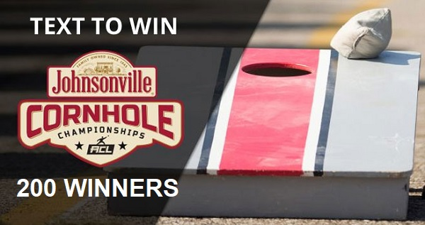 Johnsonville Cornhole Board Text To Win Sweepstakes 2020 (200 Winners)