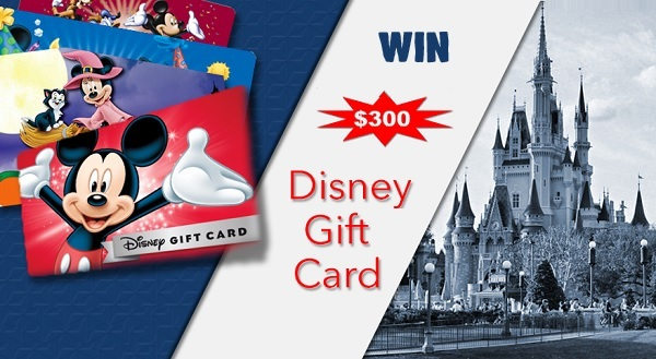 $300 Disney Gift Card Giveaway 2020