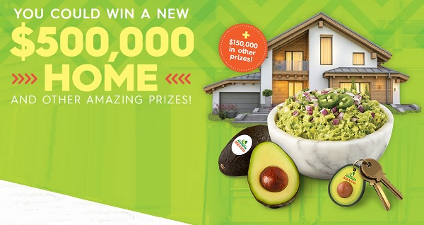 Avocados From Mexico Guac the House Sweepstakes 2020