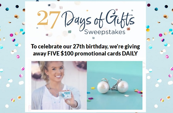 JTV 27-Days of Gifts Sweepstakes