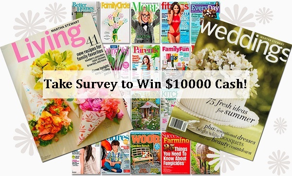 Meredith Magazines Reader Survey Sweepstakes: Win $10,000 Cash