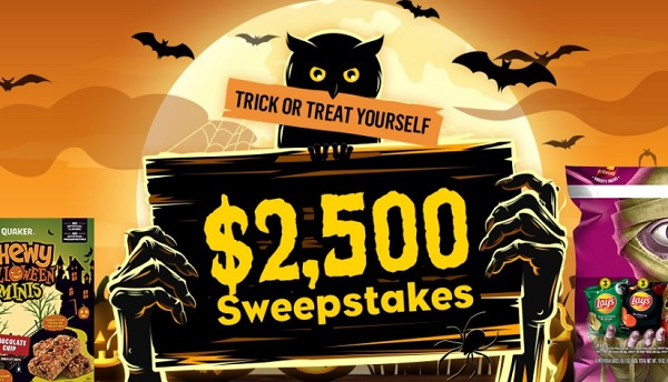 Tasty Rewards Trick or treat yourself $2500 Sweepstakes